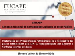 Implantação dos Procedimentos Patrimoniais sob a - CRC-ES