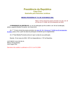 MP 174, 18/03/04 - Altera o termo inicial dos prazos previstos