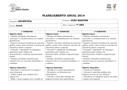 PLANEJAMENTO ANUAL 2014
