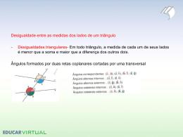 Desigualdade entre as medidas dos lados de um triângulo