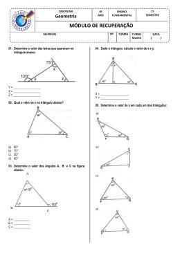 Geometria - Colégio Oliveira Castro