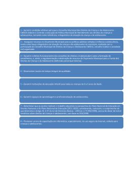 1 – Garantir condições efetivas para que o Conselho Municipal dos