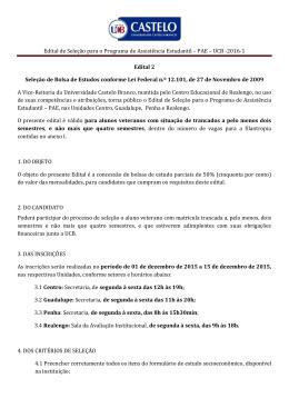 Veterano Trancado - Universidade Castelo Branco