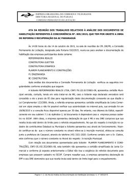 Ata Análise dos Documentos CC 005 15