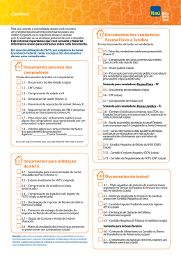 Checklist dos documentos