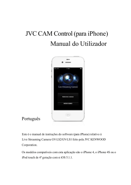JVC CAM Control (para iPhone) Manual do Utilizador