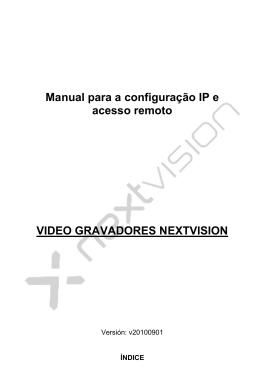 Manual para a configuração IP e acesso remoto VIDEO