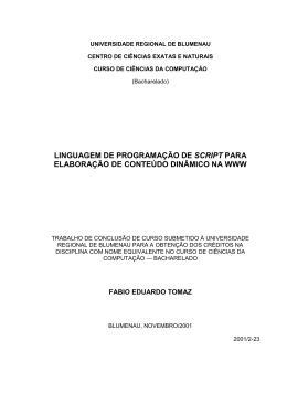 da Monografia - Departamento de Sistemas e Computação