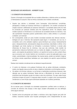 SOCIEDADE DOS INDIVÍDUOS – NORBERT ELIAS I. O CONCEITO