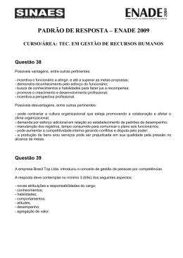PADRÃO DE RESPOSTAS DISCURSIVAS _TEC. EM