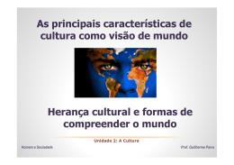 5 - Visão de mundo, herança cultural e participação dos indivíduos