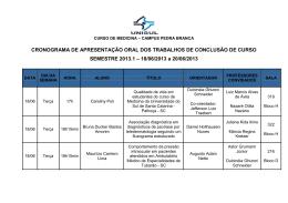 Cronograma Apresentao TCC_MED_2013