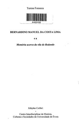 Teresa Fonseca BERNARDINO MANUEL DA COSTA LIMA