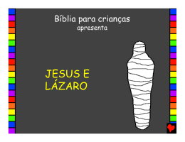 Jesus e Lázaro - Bible for Children