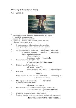 19º domingo do Tempo Comum (Ano A)