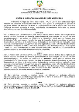 Edital n° 02_2014_Prorrogação das Inscrições