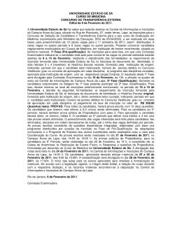 UNIVERSIDADE ESTÁCIO DE SÁ CURSO DE MEDICINA