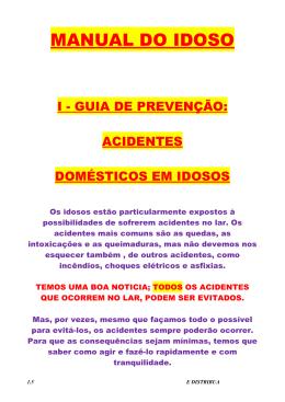 MANUAL DO IDOSO - Centro de Apoio Operacional às Promotorias