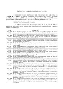resolução camex nº 32, de 30/10/2006