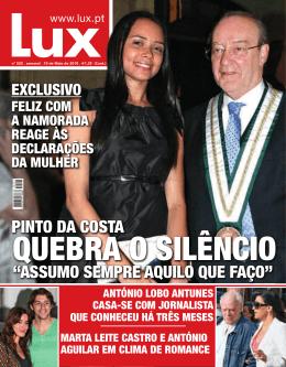 """PINTO DA COSTA """"ASSUMO SEMPRE AQUILO QUE FAÇO"""" - Lux"""