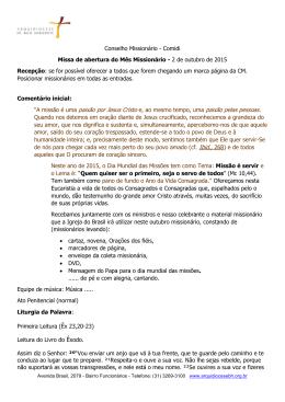 Missa - Arquidiocese de BH