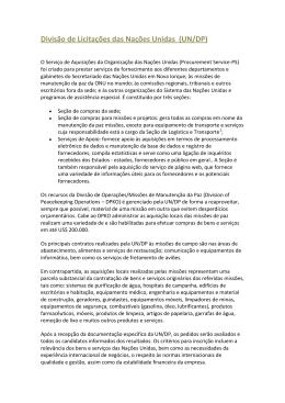 Divisão de Licitações das Nações Unidas (UN/DP)