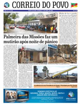 Palmeira das Missões faz um mutirão após noite de pânico
