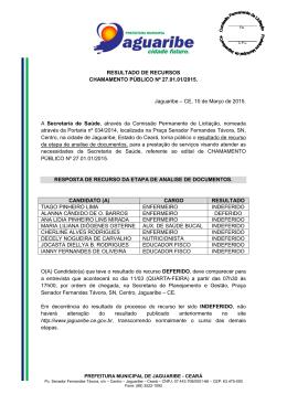 - Prefeitura Municipal de Jaguaribe