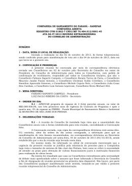 COMPANHIA DE SANEAMENTO DO PARANÁ – SANEPAR