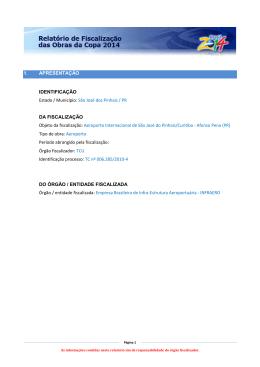 Relatório de fiscalização - Tribunal de Contas da União
