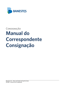 Manual do Correspondente Consignação
