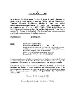 Edital de Citação -Tribunal Pleno