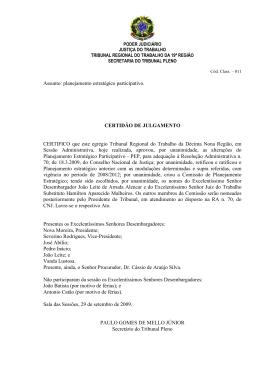 Certidão - TRT 19ª Região