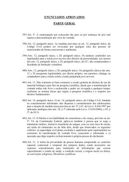 Enunciados aprovados na V Jornada de Direito Civil