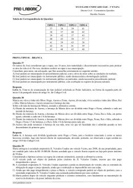 XVI Exame de Ordem Unificado - Direito Civil