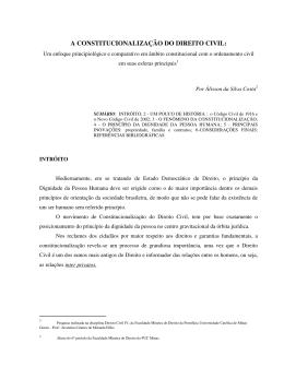 a constitucionalização do direito civil: um enfoque principiológico e