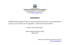 REQUERIMENTO JEFERSON DJAVAN DUARTE DE SOUZA
