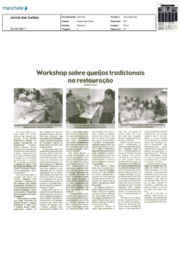 Workshop sobre queijos tradicionais