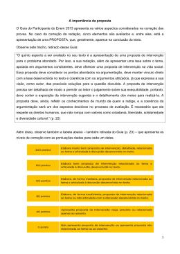 1 A importância da proposta O Guia do Participante do Enem 2013