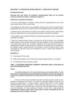 REDAÇÕES 1 E 3 PROPOSTAS EXTRAS ENEM 2013 – CURSO