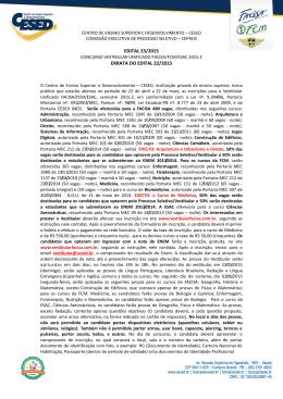 Edital nº 23/2015 – Errata