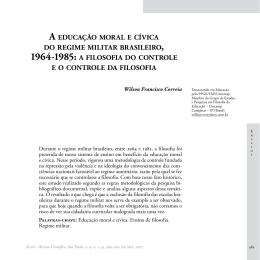 A EDUCAÇÃO MORAL E CíVICA DO REGIME MILITAR