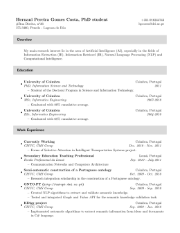 A small CV in English