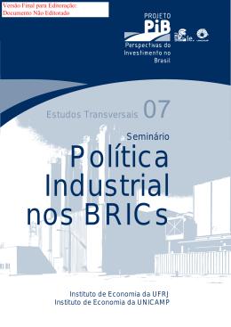 Perspectivas da Política Industrial nos BRICS