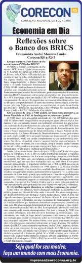 Reflexões sobre o Banco dos BRICS - CORECON-RS