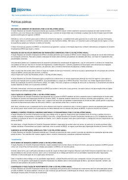 Portal da Indústria :: CNI:: Conselho Empresarial dos Brics