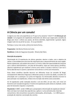 PROPOSTA 5 - A Ciência por um canudo