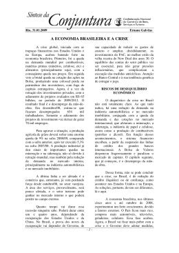 A ECONOMIA BRASILEIRA E A CRISE