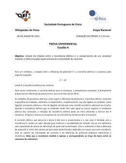 Prova Experimental - Sociedade Portuguesa de Física