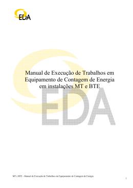 MT e BTE - Manual de execução de Trabalhos em